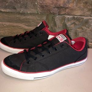 New Converse Black/Red Shoes Mens 12